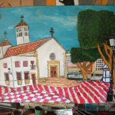 Arte: PLAZA DE ROQUETAS DE MAR ,ÓLEO SOBRE MADERA 80X60 CM. DE CRESPO . Lote 15928743