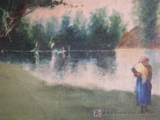 Arte: PAISAJE CON FIGURA FIRMADO R. BENEDICTO - Foto 5 - 26902614