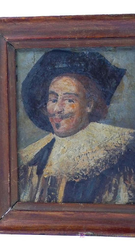Arte: pequeño retrato enmarcado.17x15 cm.óleo sobre tabla. - Foto 2 - 22339501