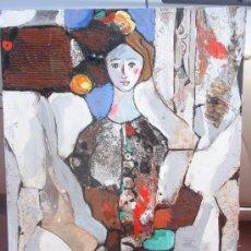 Arte: MIQUEL TORNER DE SEMIR. OBRA ORIGINAL. TECNICA MIXTA, OLEO, COLLAGE SOBRE TABLERO.. Lote 27634030