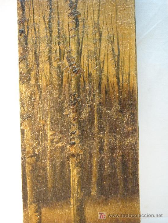 ARBOLEDA. OLEO S/LIENZO DEL XIX (Arte - Pintura - Pintura al Óleo Moderna siglo XIX)