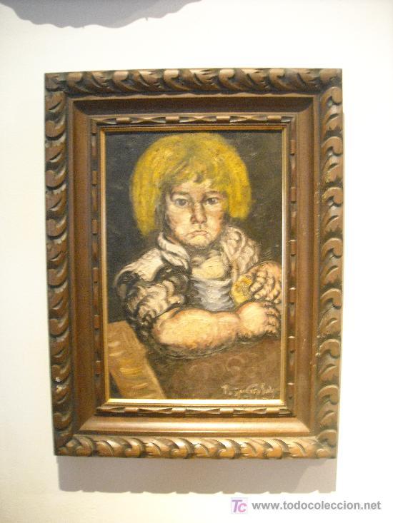 ÓLEO SOBRE TELA DEL PINTOR GALICIA PESQUEIRA SALGADO.1941 (Arte - Pintura - Pintura al Óleo Moderna sin fecha definida)