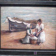 Arte: MUJERES EN LA PLAYA - FIRMADO. Lote 26738533
