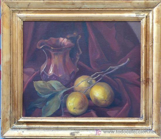 Arte: Bodegón sin firmar, óleo sobre madera. 37 x 45 cm. Marco: 60 x 52 cm. - Foto 2 - 16931467