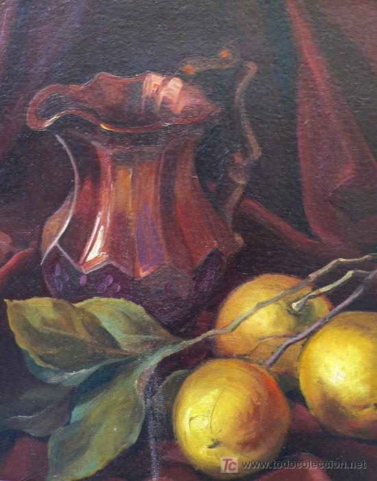 Arte: Bodegón sin firmar, óleo sobre madera. 37 x 45 cm. Marco: 60 x 52 cm. - Foto 4 - 16931467