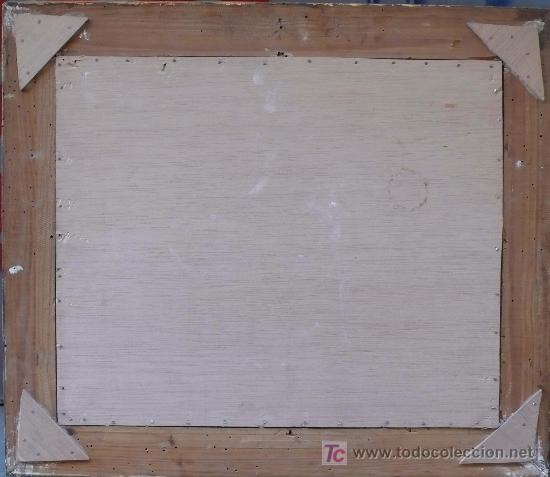 Arte: Bodegón sin firmar, óleo sobre madera. 37 x 45 cm. Marco: 60 x 52 cm. - Foto 3 - 16931467