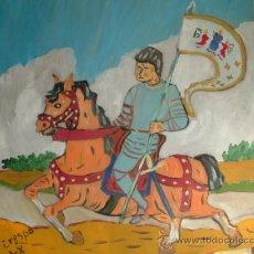 Arte: JUANA DE ARCO, 50X40 CM. ÓLEO SOBRE MADERA DE CRESPO. Lote 17079508