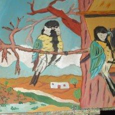 Arte: CARBONEROS,ÓLEO SOBRE MADERA EN BASTIDOR ,60X60 CM. DE CRESPO. Lote 17079850