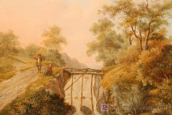 OLEO SOBRE TABLA FIRMADO JACOBUS HENDRICUS JOHANNES. AÑO 1811 (Arte - Pintura - Pintura al Óleo Antigua sin fecha definida)