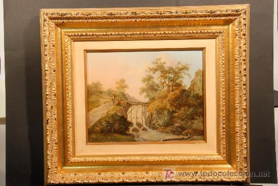 Arte: Oleo sobre tabla firmado Jacobus Hendricus Johannes. Año 1811 - Foto 3 - 25350967
