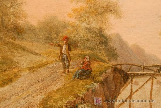 Arte: Oleo sobre tabla firmado Jacobus Hendricus Johannes. Año 1811 - Foto 2 - 25350967