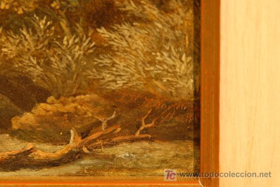 Arte: Oleo sobre tabla firmado Jacobus Hendricus Johannes. Año 1811 - Foto 4 - 25350967