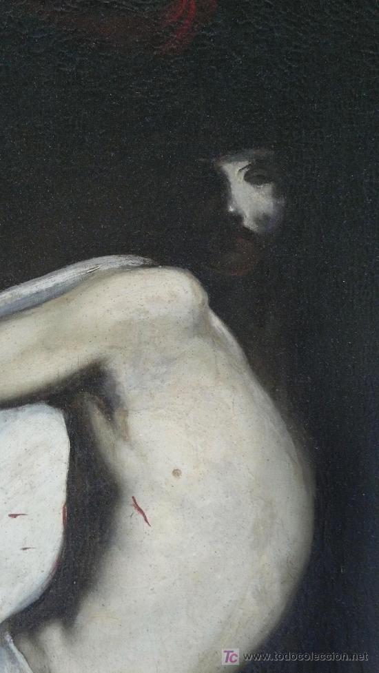 Arte: Cristo yacente, óleo sobre tela restaurado y reentelado. 159 x 52 cm. - Foto 6 - 22036998