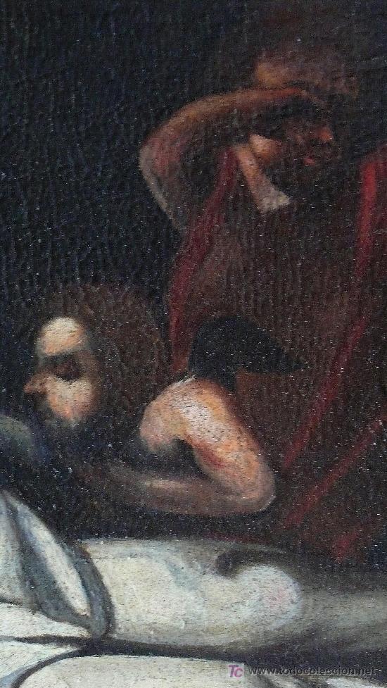 Arte: Cristo yacente, óleo sobre tela restaurado y reentelado. 159 x 52 cm. - Foto 5 - 22036998