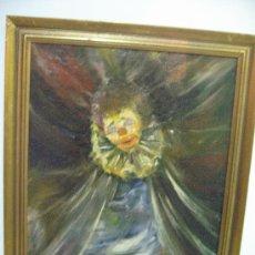 Arte: OLEO SOBRE LIENZO - PAYASO TRISTE- FIRMADO - DOMINGO CEDRES 1975. Lote 26403103
