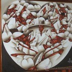 Arte: OLEO SOBRE LIENZO, TITULO MERCADO. FIRMADO. Lote 26833677