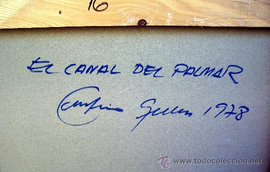 Arte: EL CANAL DEL PALMAR. EUSTAQUIO SEGRELLES (1936). FIRMADO. NUEVO PRECIO. - Foto 2 - 12380324