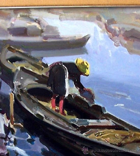 Arte: EL CANAL DEL PALMAR. EUSTAQUIO SEGRELLES (1936). FIRMADO. NUEVO PRECIO. - Foto 4 - 12380324