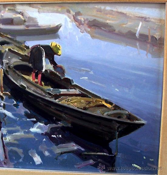 Arte: EL CANAL DEL PALMAR. EUSTAQUIO SEGRELLES (1936). FIRMADO. NUEVO PRECIO. - Foto 5 - 12380324