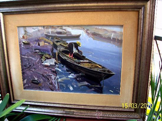 Arte: EL CANAL DEL PALMAR. EUSTAQUIO SEGRELLES (1936). FIRMADO. NUEVO PRECIO. - Foto 6 - 12380324