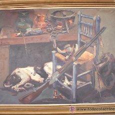 Arte: RAMÓN POVEDA IBARS,. PINTOR NACIDO EN SABADELL EN 1936. ÓLEO LIENZO MEDIDAS SIN MARCO 73X92 CM. Lote 27503487
