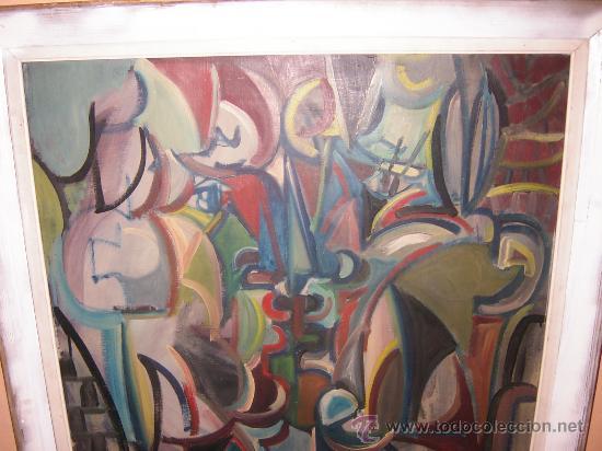 Arte: Jordi Bonet - Cubismo - El Beso - óleo sobre lienzo (1954) - Obra de Museo - Foto 2 - 25051122