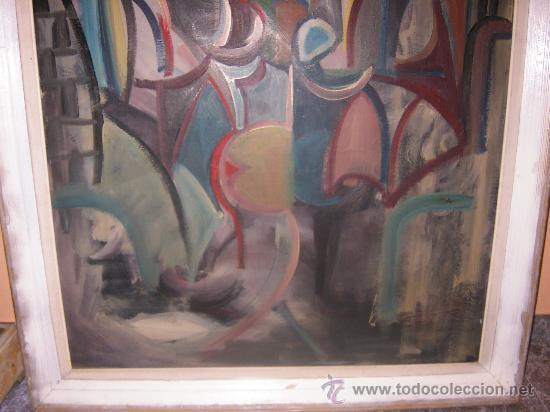 Arte: Jordi Bonet - Cubismo - El Beso - óleo sobre lienzo (1954) - Obra de Museo - Foto 3 - 25051122