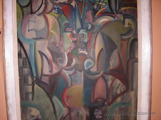 Arte: Jordi Bonet - Cubismo - El Beso - óleo sobre lienzo (1954) - Obra de Museo - Foto 4 - 25051122