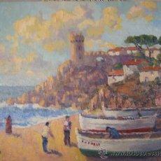 Arte: ALAY - PUEBLO PESQUERO - ÓLEO SOBRE TABLA.. Lote 26941101