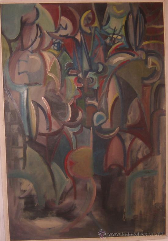 JORDI BONET - CUBISMO - EL BESO - ÓLEO SOBRE LIENZO (1954) - OBRA DE MUSEO (Arte - Pintura - Pintura al Óleo Moderna sin fecha definida)