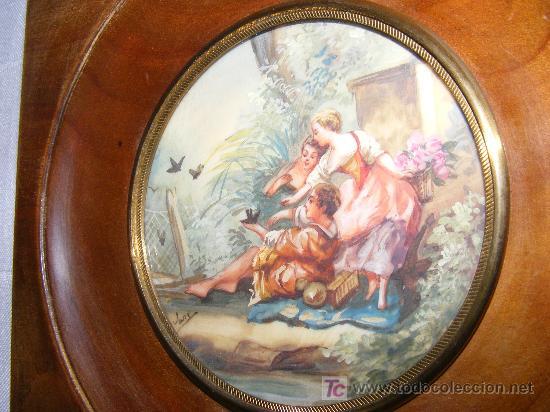 MINIATURA AL GOUACHE SOBRE PLACA (Arte - Pintura - Pintura al Óleo Antigua sin fecha definida)