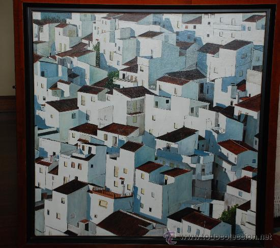 OLEO VISTA DE CASARES (Arte - Pintura - Pintura al Óleo Contemporánea )