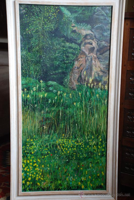 OLEO AL FONDO DEL BOSQUE. OLEO SOBRE LIENZO ,DIMENSIONES 108 X 57 CM.FIRMADO MARTIN (Arte - Pintura - Pintura al Óleo Contemporánea )