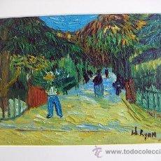 Arte: OLEO REPRODUCCION DE VAN GOGH. Lote 26831814