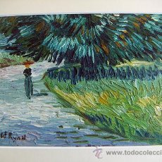 Arte: OLEO REPRODUCCION DE VAN GOGH. Lote 27160979