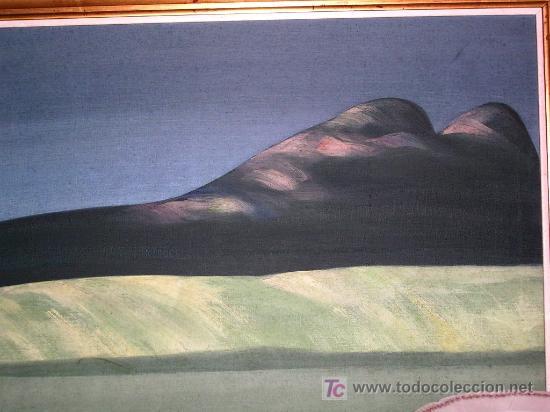 ALFONSO SUCASAS.GUERRA.SENOS MONTAÑOSOS.OLEO S/LIENZO.1974 ÉPOCA VERDE.FIRMADO, ENVÍO PAGADO. 48X54 (Arte - Pintura - Pintura al Óleo Contemporánea )