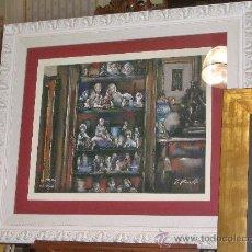 Arte: IRREPETIBLE PASTEL DE JAUME QUERALT 86 X 100 TOTAL, 50 X 65 PAPEL. Lote 94249915