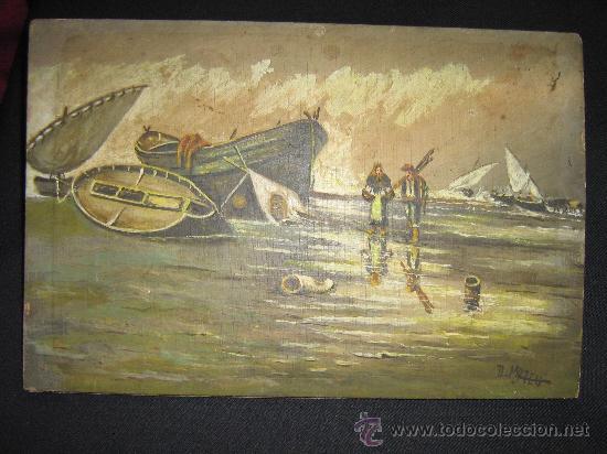 PINTURA SOBRE TABLILLA,S.XIX. (Arte - Pintura - Pintura al Óleo Moderna siglo XIX)