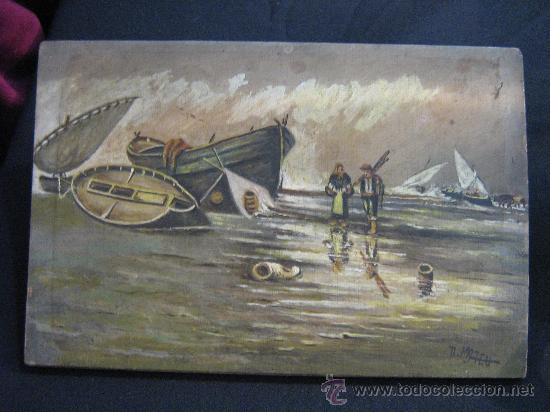 Arte: Pintura sobre tablilla,S.XIX. - Foto 2 - 27228191