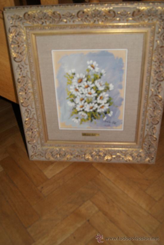 Precioso cuadro de margaritas oleo sobre tabla comprar - Pintor valenciano ...