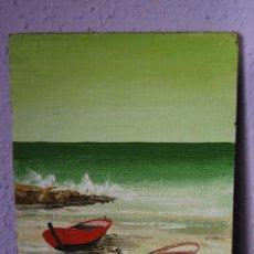 Arte: ÓLEO SOBRE TABLEX - PAISAJE COSTERO - ANÓNIMO. Lote 26836758