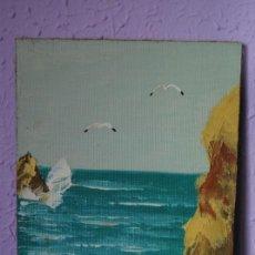 Arte: ÓLEO SOBRE TABLEX - PAISAJE COSTERO - ANÓNIMO. Lote 27565823