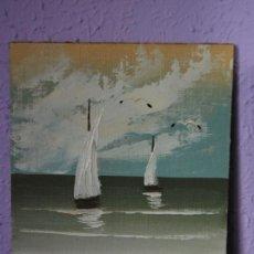 Arte: ÓLEO SOBRE TABLEX - PAISAJE COSTERO - ANÓNIMO. Lote 26891934