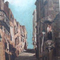 Arte: PEQUEÑO OLEO SOBRE CARTON ANTIGUO, ESCUELA ESPAÑOLA. FIRMADO J P. S. XIX ?.. Lote 21549010