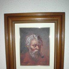 Arte: 2 CUADROS ANTIGUOS DE MARINEROS AL OLEO. CUADRO MARCO DE MADERA.. Lote 26861381