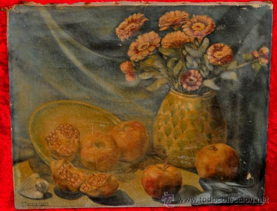 FIRMADO A. TOGORES LLACH. OLEO SOBRE TELA FECHADO DEL AÑO 1949 (Arte - Pintura - Pintura al Óleo Moderna sin fecha definida)