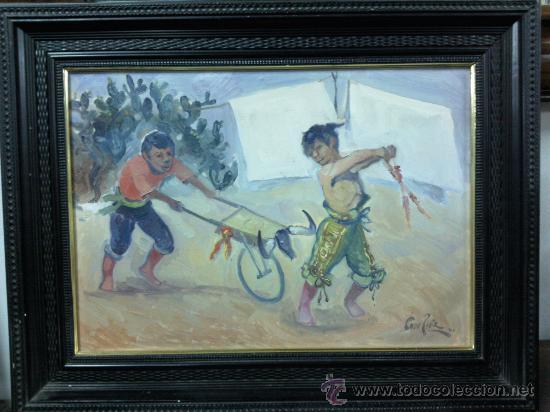 CUADRO OLEO LIENZO DEL PINTOR FERNANDO TORO PÍRIZ ,JEREZ. (Arte - Pintura - Pintura al Óleo Contemporánea )