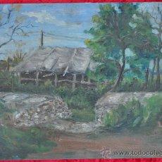 Arte: ANONIMO OLEO SOBRE CARTON. PAISAJE. . Lote 24472385