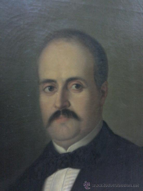 Arte: Cuadro oleo lienzo del siglo XIX, retrato. - Foto 2 - 27249948