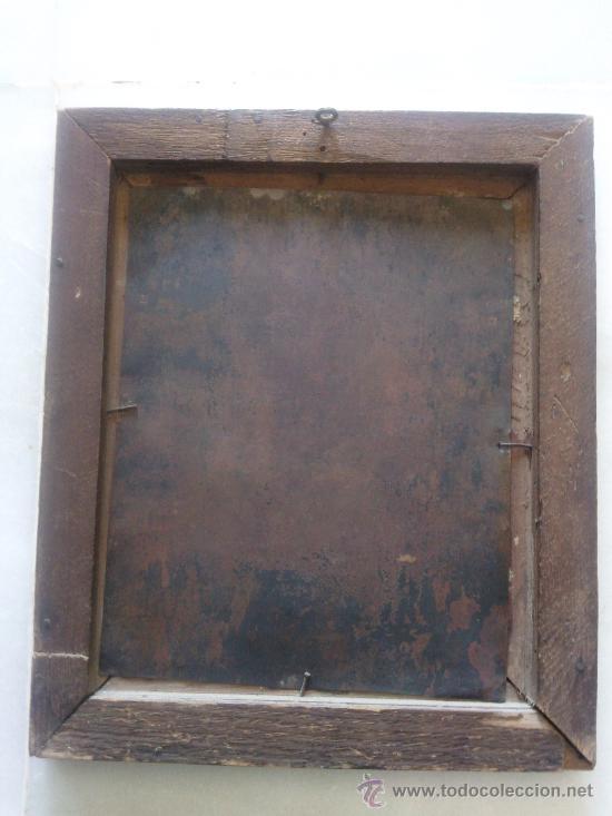 Arte: Antiguo óleo sobre cobre imagen de Santa Catalina de Siena - Foto 2 - 27394754